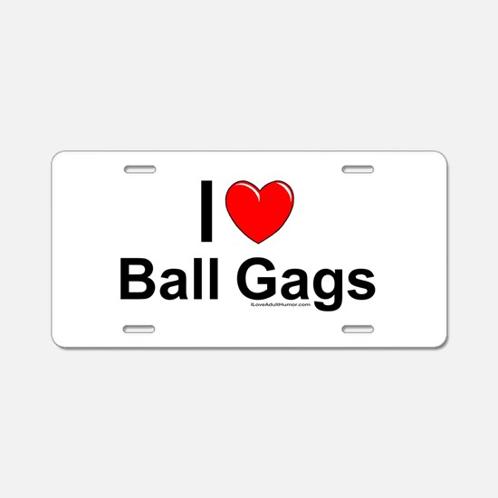 Ball Gags Aluminum License Plate