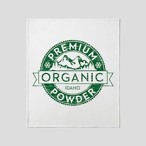 Idaho Powder Throw Blanket