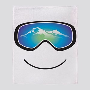 Happy Skier/Boarder Throw Blanket