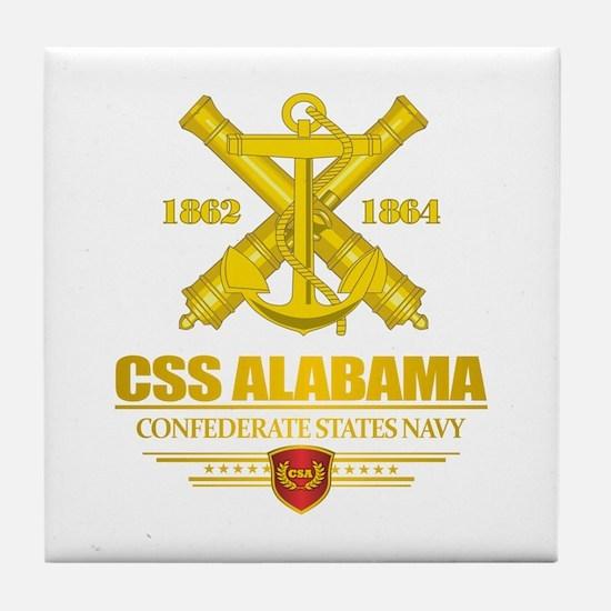 CSS Alabama Tile Coaster