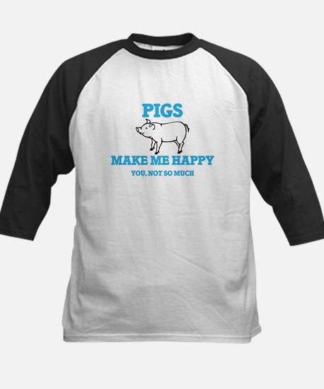Pigs Make Me Happy Baseball Jersey
