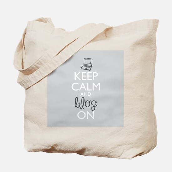 Keep Calm and Blog On Tote Bag