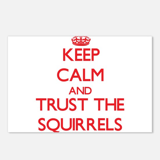 Keep calm and Trust the Squirrels Postcards (Packa