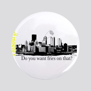 "Pittsburgh 3.5"" Button"