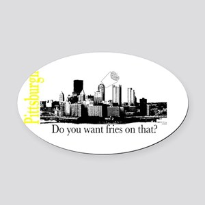 Pittsburgh Oval Car Magnet