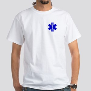 Blue Paramedic White T-Shirt