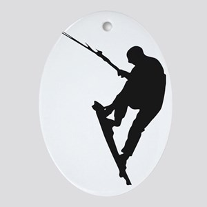 Kite Surfing Oval Ornament