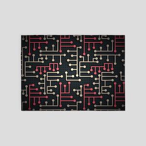 Circuit Board 5'x7'Area Rug