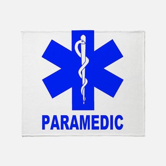 Blue Paramedic Throw Blanket