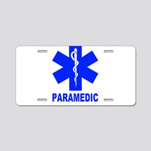 Blue Paramedic Aluminum License Plate