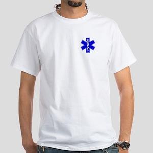 Blue EMT White T-Shirt