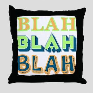 Blah Throw Pillow