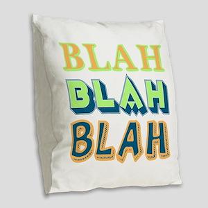 Blah Burlap Throw Pillow
