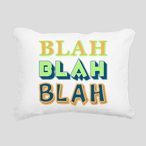 Blah Rectangular Canvas Pillow