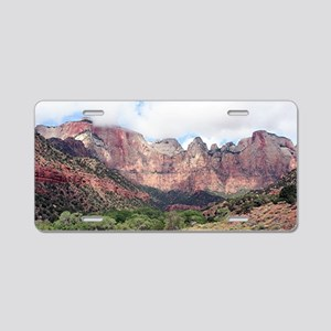 Zion National Park, Utah, U Aluminum License Plate