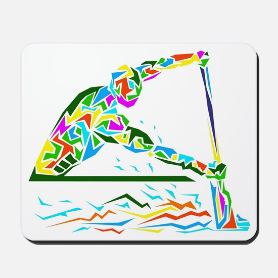 man is rowing  Mousepad