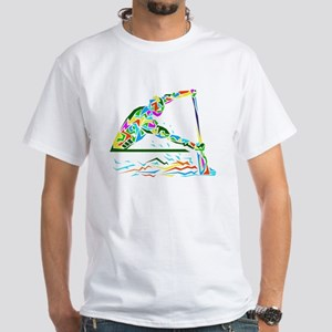man is rowing  White T-Shirt