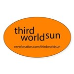 Third World Sun Sticker (oval)