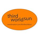 Third World Sun Sticker (oval)