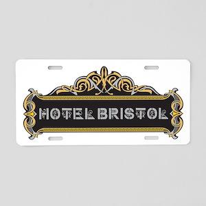 HOTEL BRISTOL Aluminum License Plate