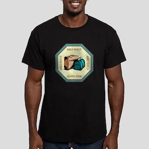 WORLD TRAVELER Men's Fitted T-Shirt (dark)