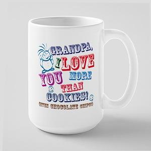 Grandpa I Love You More Than Cookies! Mugs