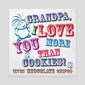 Grandpa I Love You More Than Cookies! Queen Duvet