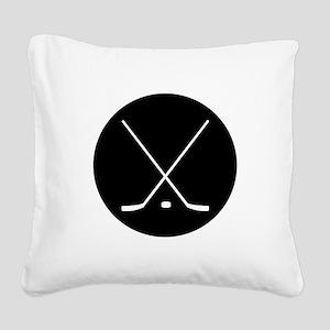 Hockey Sticks Square Canvas Pillow