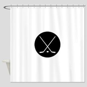 Hockey Sticks Shower Curtain