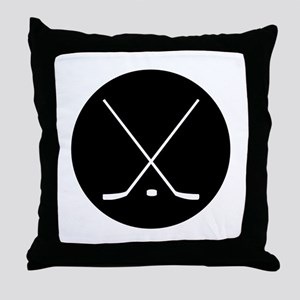Hockey Sticks Throw Pillow