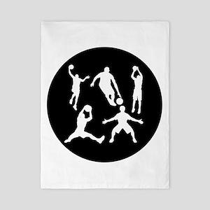 Basketball Players Twin Duvet