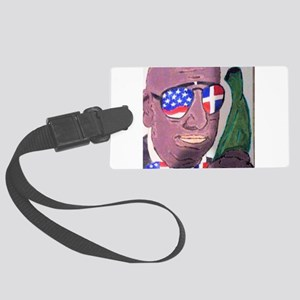 Dominican American Large Luggage Tag