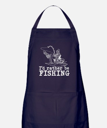 I'd rather be fishing Apron (dark)