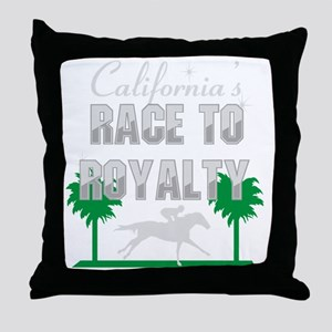 California Chrome's Race to Royalty Throw Pillow