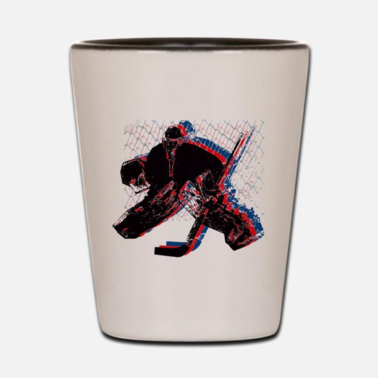 Hockey Goaler Shot Glass