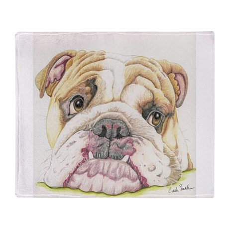 english bulldog blanket english bulldog drawing throw blanket by carlaspetportraits 1782