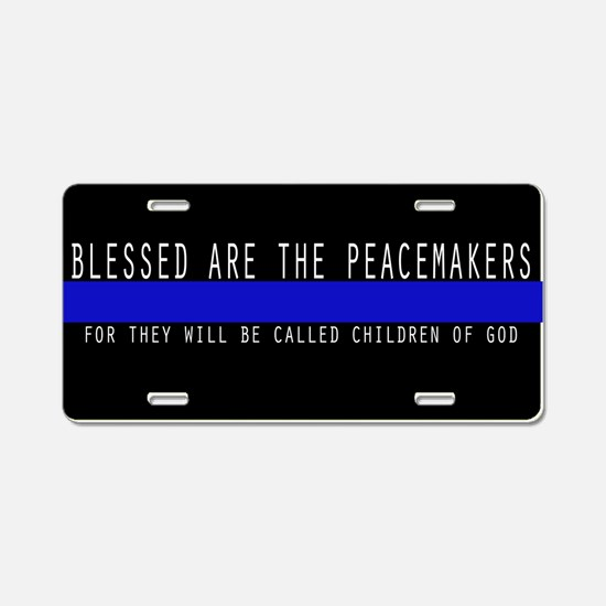 Thin Blue Line - Aluminum License Plate