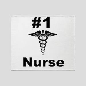 Number one Nurse Throw Blanket