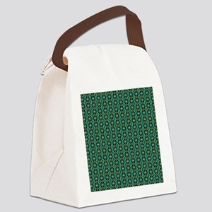 Art Pattern Green Canvas Lunch Bag