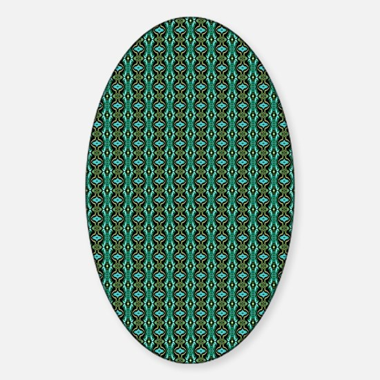 Art Pattern Green Sticker (Oval)