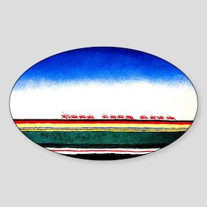 Malevich - Red Cavalry Sticker (Oval)