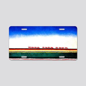 Malevich - Red Cavalry Aluminum License Plate