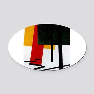 Malevich - Suprematism 1915 Oval Car Magnet