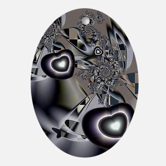 A Husband's Love Oval Ornament