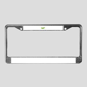 Peapod License Plate Frame