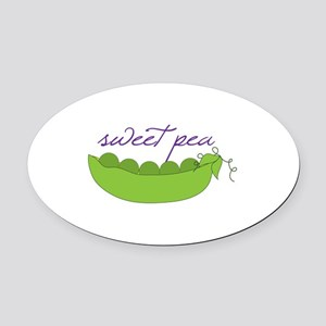 Sweet Pea Oval Car Magnet