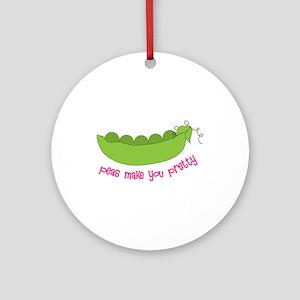 Peas Make You Pretty Ornament (Round)