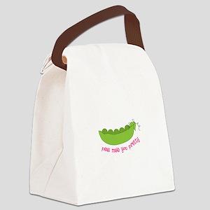 Peas Make You Pretty Canvas Lunch Bag