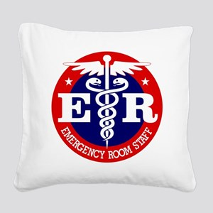 ER Staff Square Canvas Pillow