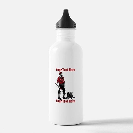 Lumberjack CUSTOM TEXT Water Bottle